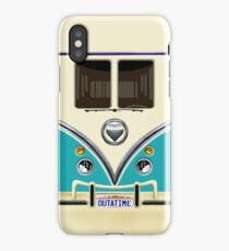 kawaii Blue teal love bug mini bus iPhone Case/Skin