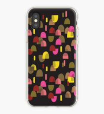 Retro domes in pink & yellow iPhone Case