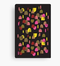 Retro domes in pink & yellow Canvas Print
