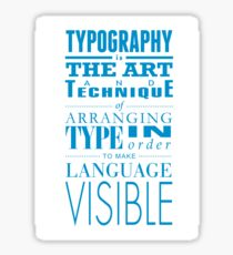 Typography concept Sticker