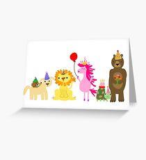Unicorn birthday bash  Greeting Card