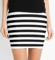 Horizontal Black and White Stripe Bedspread Duvet Cover Pillow Mini Skirt