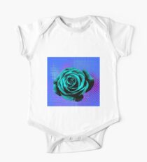 Rose pop art blue, green One Piece - Short Sleeve