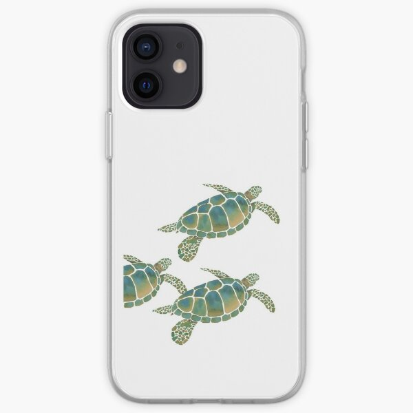 Watercolour Sea Turtles iPhone Soft Case