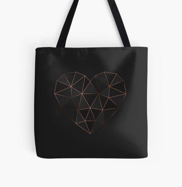 Kintsugi - Gold Rose All Over Print Tote Bag