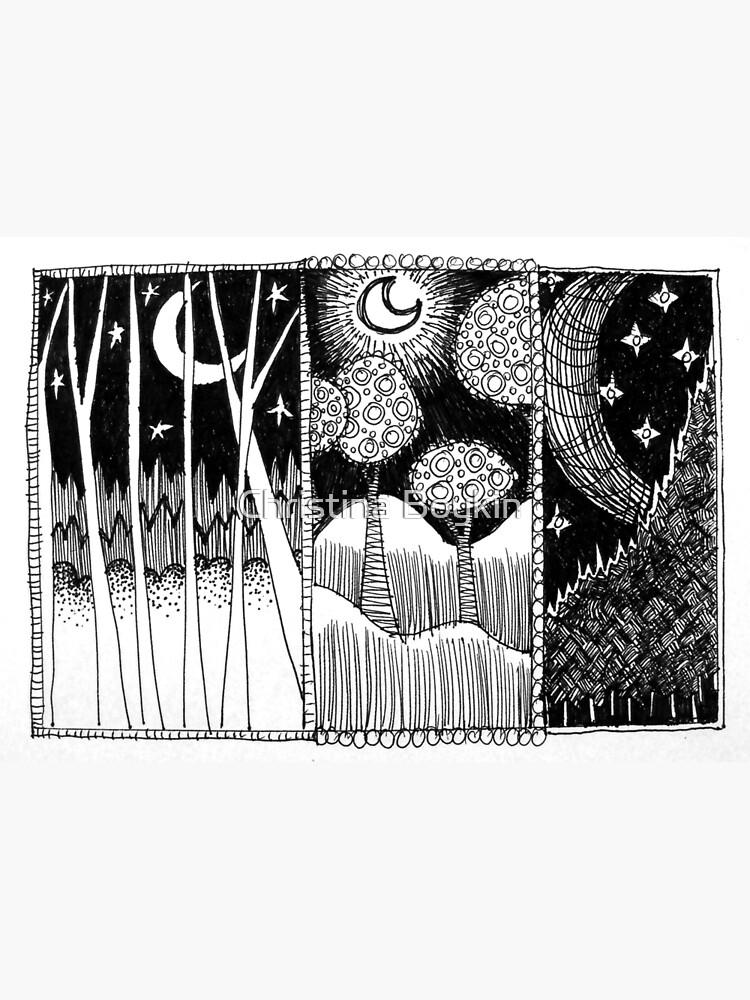 Drei-Mond-Wald von boykinart