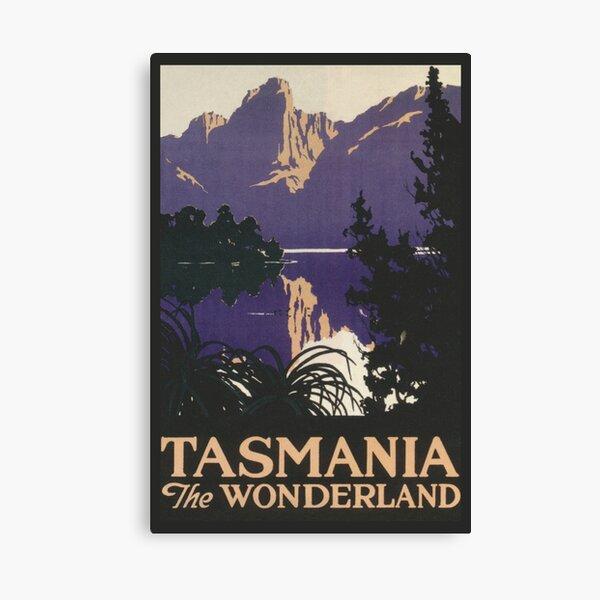 Tasmania Vintage Travel Poster Canvas Print