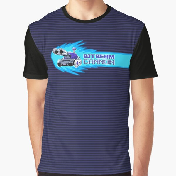 BitBeamCannon Logo With scanline Background Graphic T-Shirt