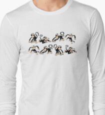 Crazy Monkey Pattern Long Sleeve T-Shirt