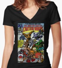 Cartoon Wars Women's Fitted V-Neck T-Shirt