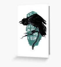 Freedom crow Greeting Card