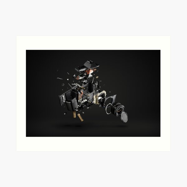 Exploded View - Single Lens Reflex Art Print