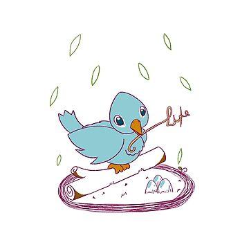 Bird life  by manatti