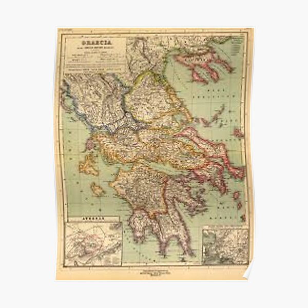 Ancient Greek Map Poster