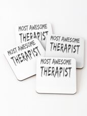 Most Awesome Therapist Posavasos