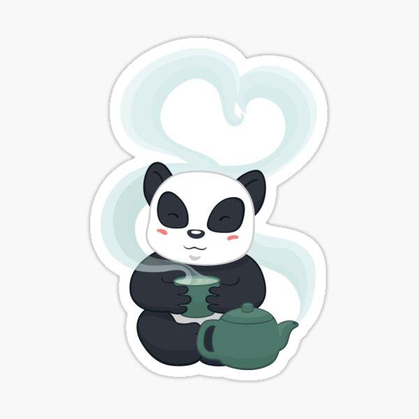 Panda Tea Time Sticker