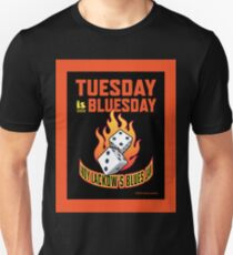 Tuesday Is Bluesday - Flaming Dice Unisex T-Shirt