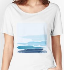 Water Brush Stroke Women's Relaxed Fit T-Shirt