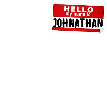 Hello My Name Is Johnathan Name Tag by marcoafsousa