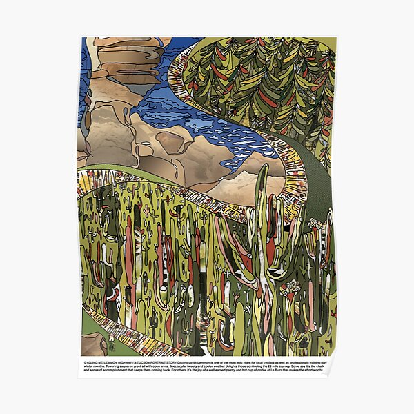 Cycling Mt Lemmon Highway / A Tucson Portrait Story Poster