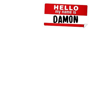 Hello My Name Is Damon Name Tag by marcoafsousa