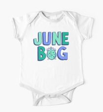 June Bug Onesie (blues and greens) One Piece - Short Sleeve