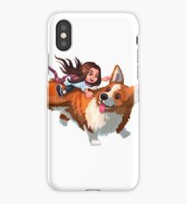 Evee and the Corgi of the Skies  iPhone Case
