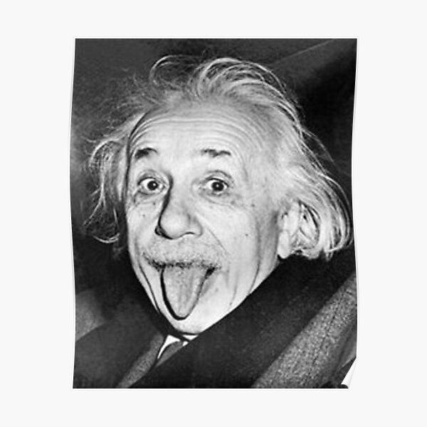 Albert Einstein Tongue Póster