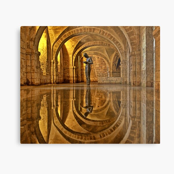 Cathedral Crypt - Winchester Metal Print