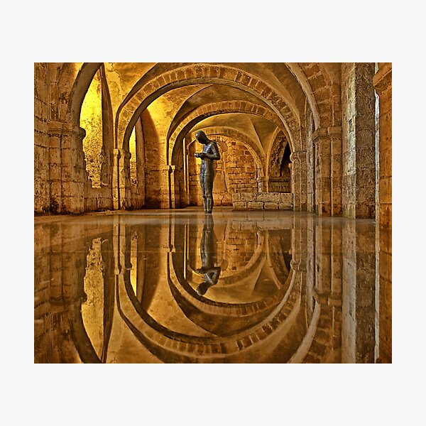 Cathedral Crypt - Winchester Photographic Print