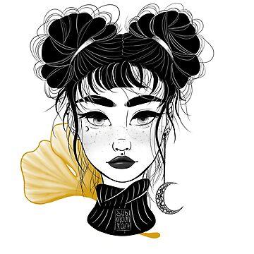 Ginkgo Girl by jubimoon-art