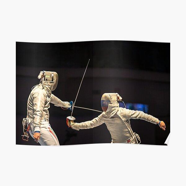 Fencing Sport Poster