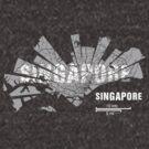 Singapore Map von UrbanizedShirts
