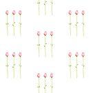 3 Pink Rosebuds T-shirt by Mariana Musa