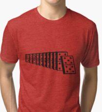 Dominoes Falling Tri-blend T-Shirt
