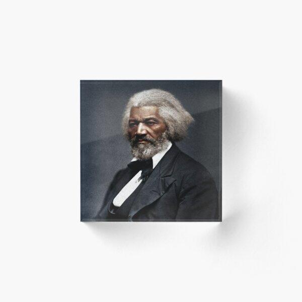Frederick Douglass Portrait  Acrylic Block