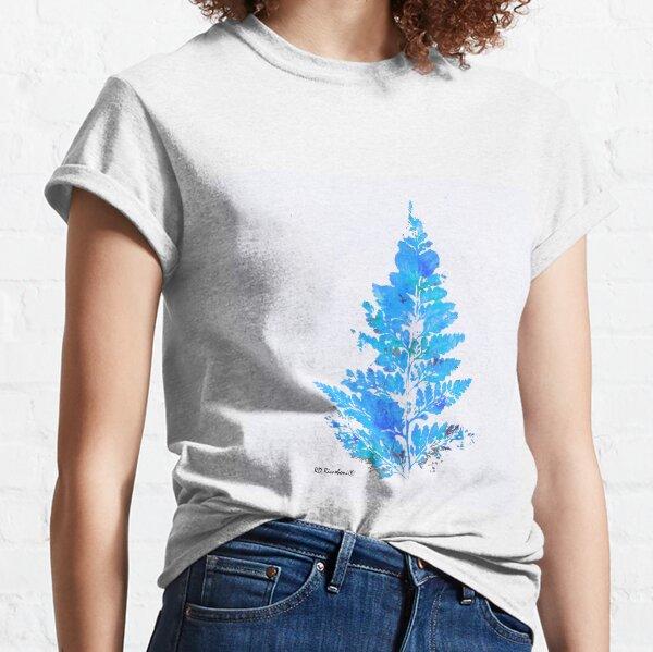 Blue Fern Leaf  Classic T-Shirt