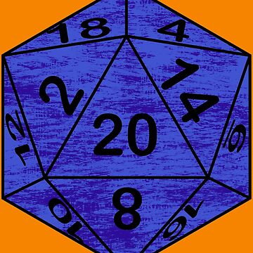 Retro Dice Blue by GuildCave