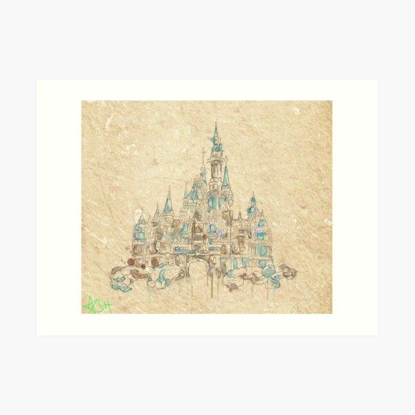 Enchanted Storybook Castle Art Print