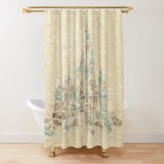 Enchanted Storybook Castle Shower Curtain