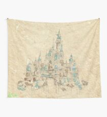 Enchanted Storybook Castle Wall Tapestry