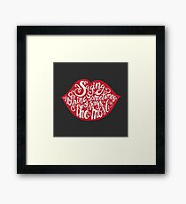 Saying Nothing Framed Print