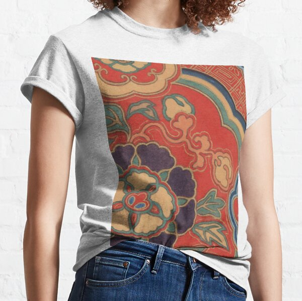 VINTAGE CHINESE BROCADE Pop Art Classic T-Shirt
