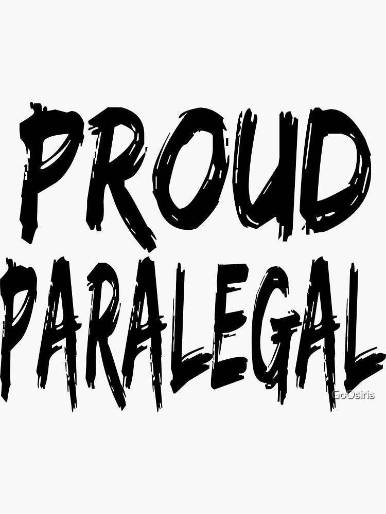 Proud Paralegal de GoOsiris