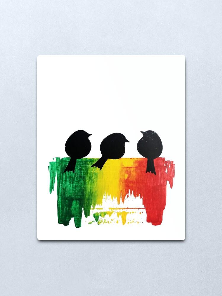 Alternate view of Three Little Birds Metal Print