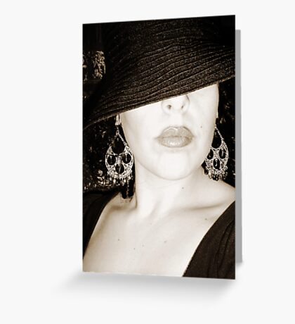 the mobster's wife Greeting Card