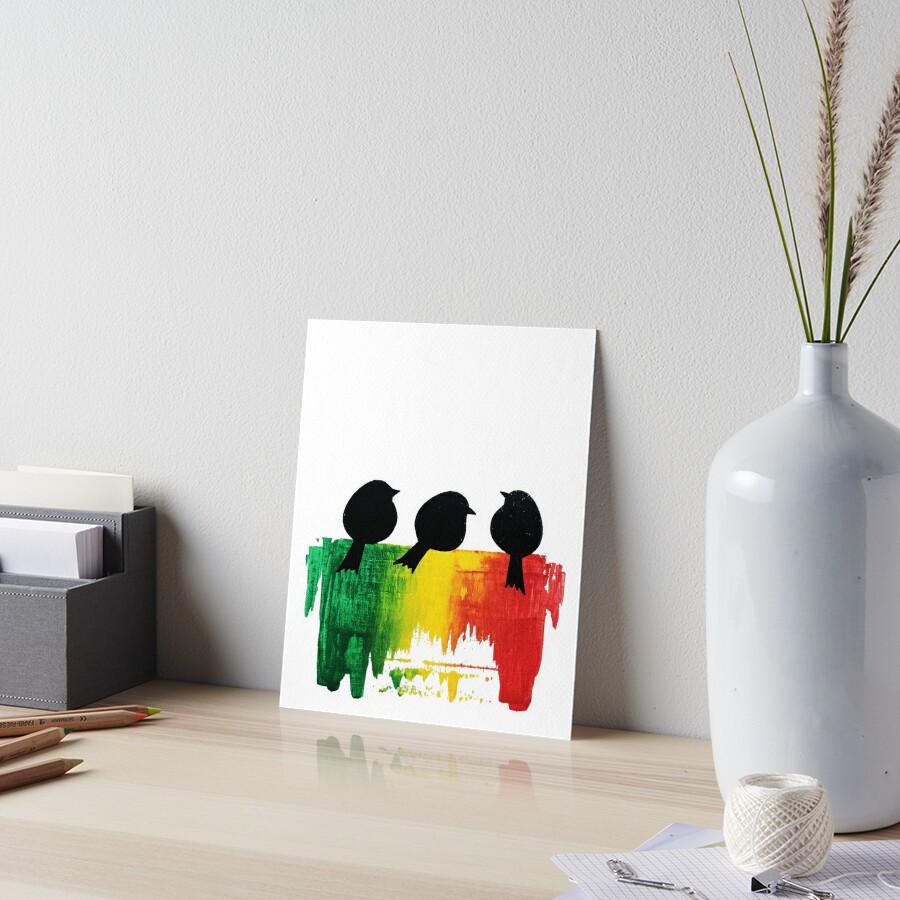 Three Little Birds Art Board Print