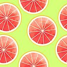 Summer Juicy Grapefruit Pattern by tanyadraws