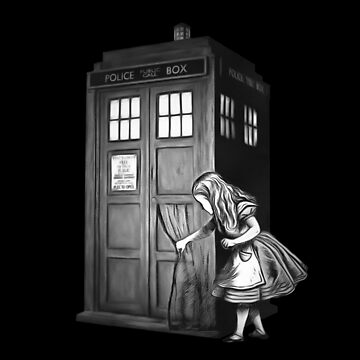 Through The Police Box - Alice In Wonderland by maryedenoa
