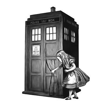Durch die Polizeibox - Alice im Wunderland von maryedenoa